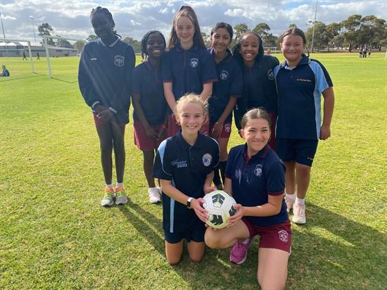 Soccer team 2 girls