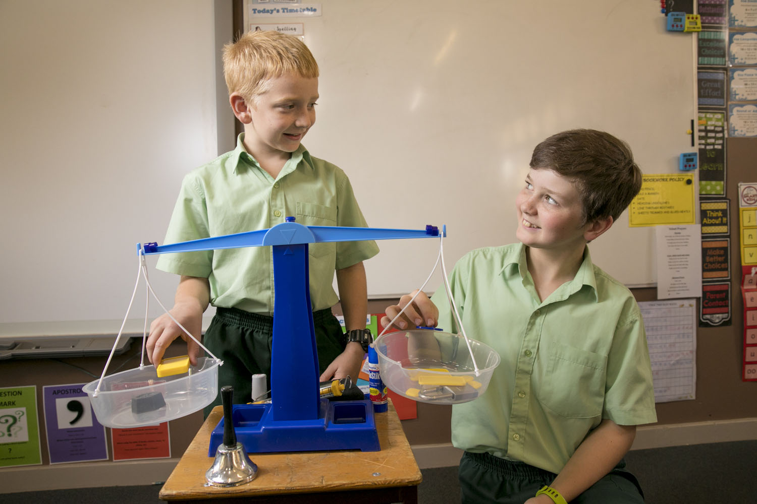 students using scales